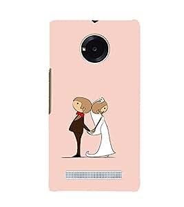 Married Couple 3D Hard Polycarbonate Designer Back Case Cover for YU Yuphoria :: YU Yuphoria YU5010