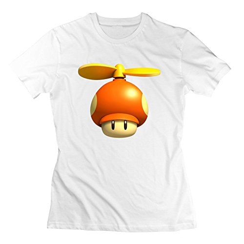 Stylingclothing Women Mario Mushrooms Image T-shirt (,gray)