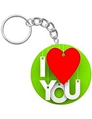 I Love You | ShopTwiz WOODEN Circle Key Ring