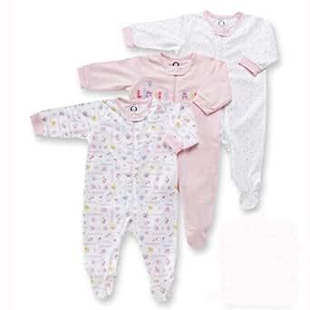 Gerber Zip Front Sleep N Play, 3 Pack, Girl, 6-9 Months