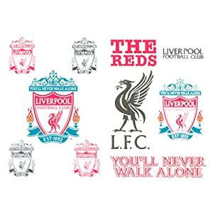 Amazon.com : Liverpool FC Temporary Tattoo Pack of 10 : Sports Fan