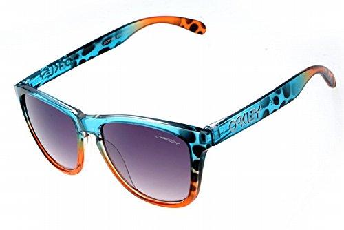 Unisex Frogskins Prizm Daily Polarized green Fade Edizione OO9013-99nebbia impermeabile occhiali da sole, Uomo, Blue Leopard, Taglia unica