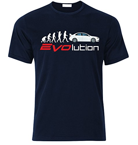 mitsubishi-lancer-evo-ix-x-xi-xii-fan-t-shirt-t-shirt-l-dunkel-blau