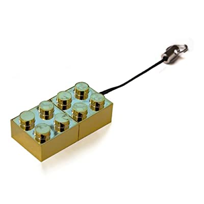 2GB GOLD Brick USB Flash Memory Drive from JellyFlash