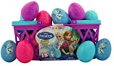 Disney's Frozen Candy Filled Eggs Easter Olaf Elsa Anna Basket, 18 Pack