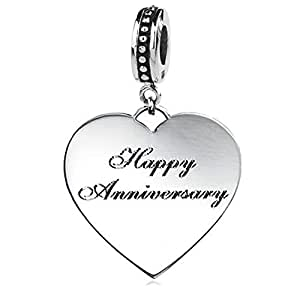 sterling silver quot happy anniversary quot dangle