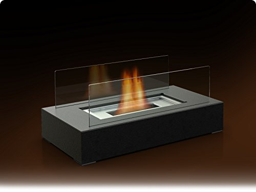 Fire Desire's Cubic Fireplace - Best Seller, Perfect for Table Top, Tempered Glass, Both Indoor and Outdoor Use, Great for Decoration, Cozy Atmosphere, German Design, Can Put Anywhere, Table Top, Easy to Assemble, Portable, Reusable Fireplace (Gel Alcohol Fuel Fireplace compare prices)