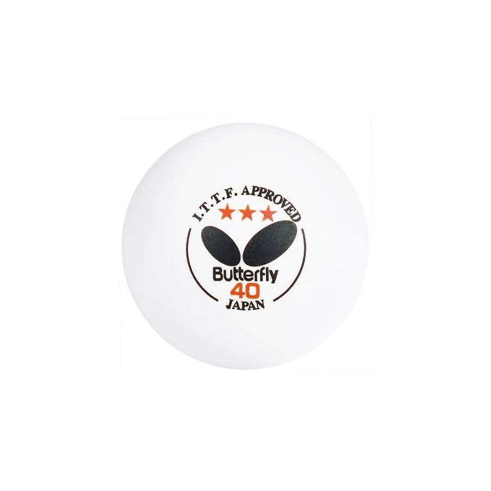 White Butterfly 6 Pack ITTF Table Tennis Balls