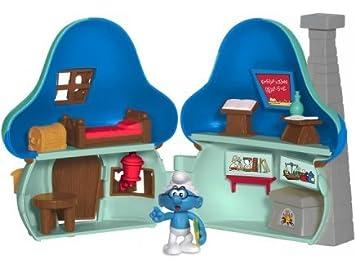 Maison bleue du schtroumpf a lunettes - figurine les schtroumpfs peyo