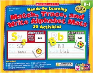 Hands-On Learning: Match, Trace And Write The Alphabet Mats front-943577