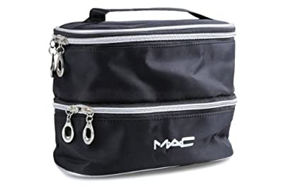 Cheapest MAC Cosmetics Bag Double Case Black MakeUp Bag from MAC - Free Shipping Available