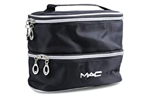Amazon.com: Mac Cosmetics Bag Double Case Black Makeup Bag: Beauty