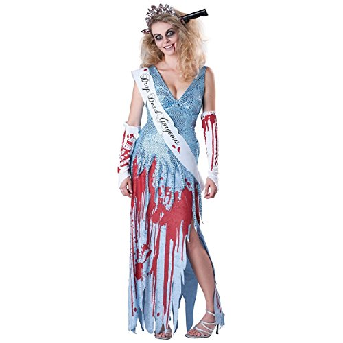 [GSG Drop Dead Gorgeous Costume Funny Zombie Prom Queen Beauty Scary Halloween] (Dead Prom Queen And King Costumes)