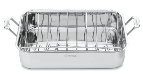 Cuisinart Chef's Classic Stainless 16-Inch Rectangular Roaster with Rack (Baking Pans Cuisinart compare prices)
