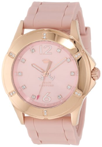 Juicy Couture Women's 1900997 Rich Girl Pale Pink Silicone Strap Watch