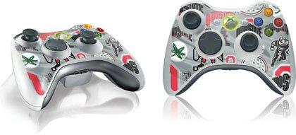 Skinit Ohio State University Pattern Print Vinyl Skin for 1 Microsoft Xbox 360 Wireless Controller