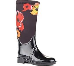 Cougar Women\'s Talon Boot,Black/Flower Neoprene,US 6 M