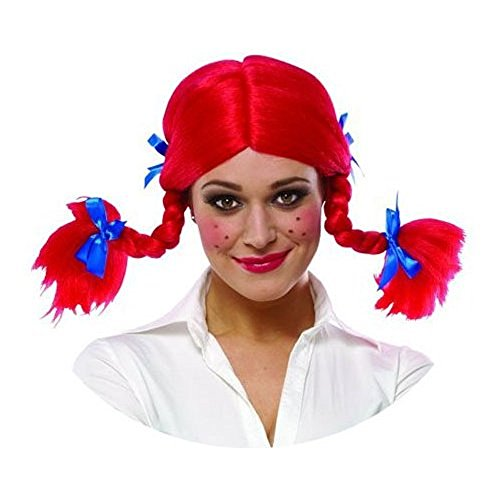 Adult Red Braided Wendy Wig Costume Accessory