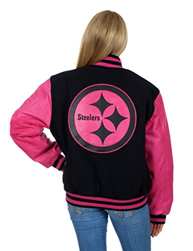 online store 10a01 c3e11 Buy Pittsburgh Steelers Women's Wool & Leather Varsity ...