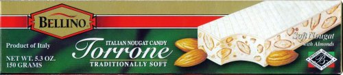 Bellino Torrone (Soft Nougat) Bar, 5.3-Ounce Bars (Pack of 3) by Bellino