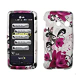 Premium White with Purple Flowers Design Snap-On Cover Hard Case Cell Phone ....
