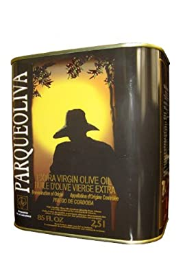 ParqueOliva Serie Oro- Award Winning Cold Pressed EVOO Extra Virgin Olive Oil, 2010-2011 Harvest, 84.5-Ounce Tin