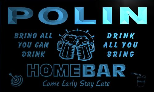 q35526-b-polin-family-name-home-bar-beer-mug-cheers-neon-light-sign