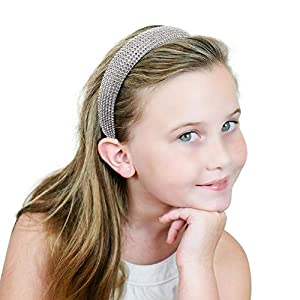 Diamond Headband for Women - Padded Headband Handmade Crystal Rhinestone Headbands Fashionable Handmade Hairband for Girl 1pcs Silver (Color: Multi-colored014, Tamaño: Medium)