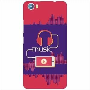 Micromax Canvas Fire 4 A107 Back Cover - Silicon Music Designer Cases