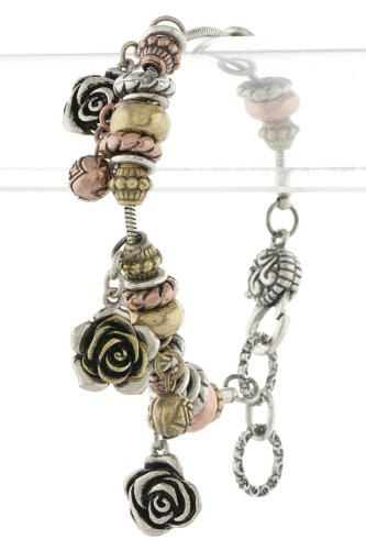 TIFFANY & ZARA METAL ROSE CHARM BRACELET (Antique Multi) at Amazon.com