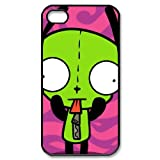 DiyCaseStore Alien Invader Zim Gir Series Iphone 4/4S Case Cover Unique Designed Bulging Eye Zim Gir Iphone 4 Case