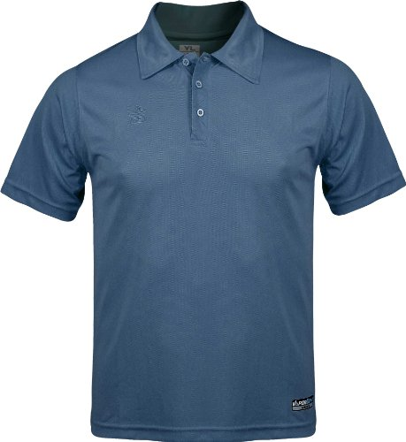 Admiral classic soccer coach sideline polo shirt steel for Soccer coach polo shirt