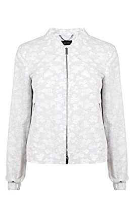 Cotton jacquard bomber jacket