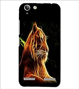 PrintDhaba Digital Lion D-1212 Back Case Cover for LENOVO VIBE K5 PLUS (Multi-Coloured)