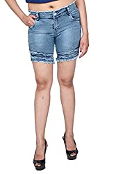 Nifty Women's Denim Shorts (1311, Blue-Gray, 34)