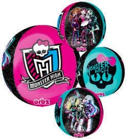 "16"" Monster High 4-Sided Design Round Orb Balloon"