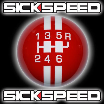 Red/White Rally Stripe Shift Knob For 6 Speed Short Throw Shifter Lever Un2 for Chevrolet Camaro (2010 Camaro Rally Stripes compare prices)