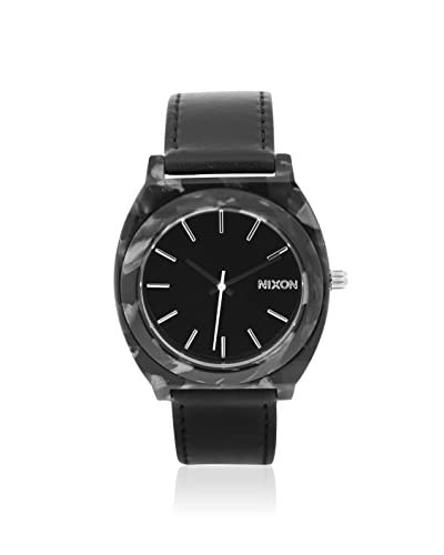 Nixon Women's A328-039 Time Teller Black Leather Watch