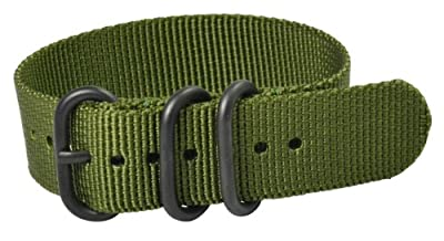 Click for Premium 24mm 3-ring PVD Solid Army Urban Military Nylon Nato Watch Strap G-10 Fits All Watches!!!