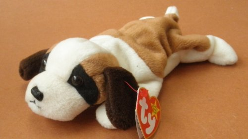 TY Beanie Babies Bernie the St. Bernard Dog Plush Toy Stuffed Animal
