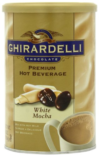 Ghirardelli Premium Hot Beverage Mix, White Mocha, 19-Ounce Cans (Pack of 4)