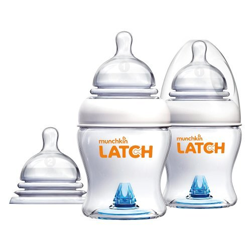 Munchkin Latch 4 Ounce Bottle with Bonus Nipple - 2 Pack - 1