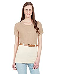 Elle Women's Tunic Shirt (Eefl0018_Beige_X-Large)