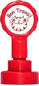 Teacher Stamps BR006CM Tampon Auto-encreur pour Enseignant Bon travail Couleur aléatoire