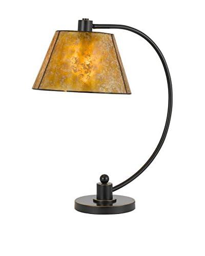 Bristol Park Lighting Cadiz Metal Table Lamp With Mica Shade, Dark Bronze