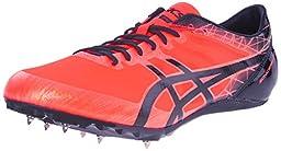 ASICS Men\'s Sonicsprint Elite Track Shoe, Flash Coral/Black, 10.5 M US
