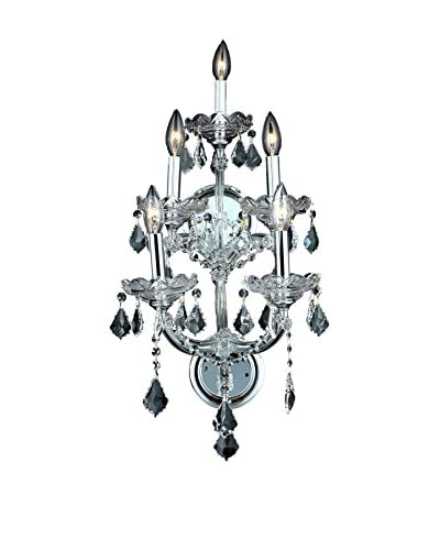 Crystal Lighting Maria Theresa 5-Light Wall Sconce, Chrome