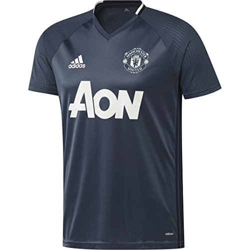 adidas Men's Manchester United Training Jersey (Large) Mineral Blue/Navy/Chalk White (Manchester United White Jersey compare prices)