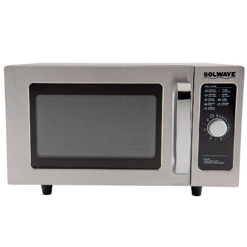 Solwave Mw1000D Stainless Steel Commercial Microwave With Dial Control - 120V, 1000W