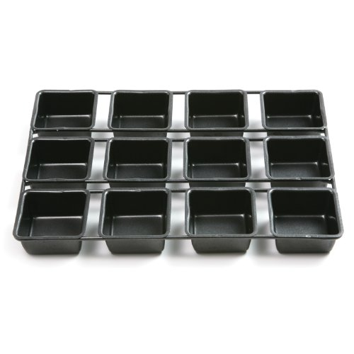 Norpro 3998 Nonstick 12-Cavity Linking Brownie Muffin Cupcake Cake Pan, Squares (Individual Brownie Pan compare prices)
